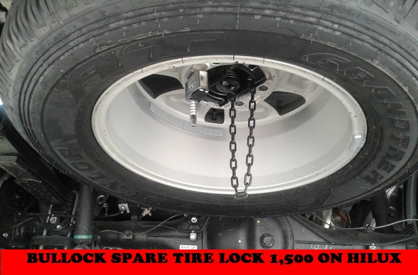 HILUX SPARE TIRE LOCK