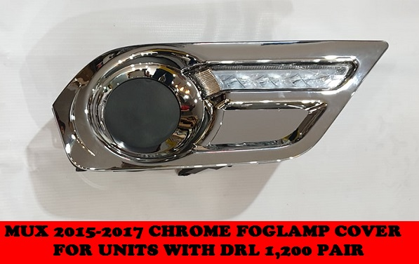 CHROME FOGLAMP COVER MUX 2015-2017
