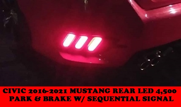 MUSTANG REAR BUMPER LED CIVIC 2016-2021