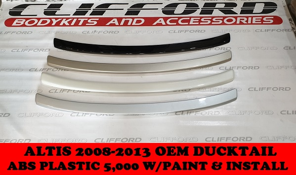 OEM DUCKTAIL ALTIS 2008-2013