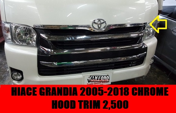 CHROME HOOD TRIM GRANDIA 2005-2018