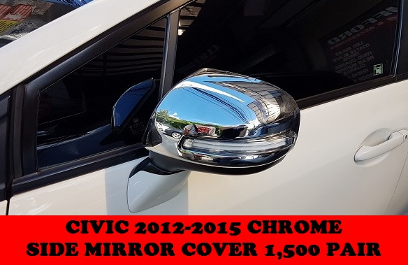 CHROME SIDE MIRROR COVER CIVIC 2012-2015