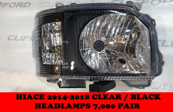 CLEAR /BLACK HEADLAMPS